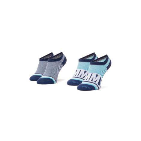 Tommy Hilfiger Súprava 2 párov detských členkových ponožiek 320407001 Modrá