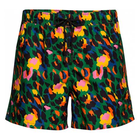 Happy Socks Leopard Swim Shorts-L farebné LEO116-7500-L