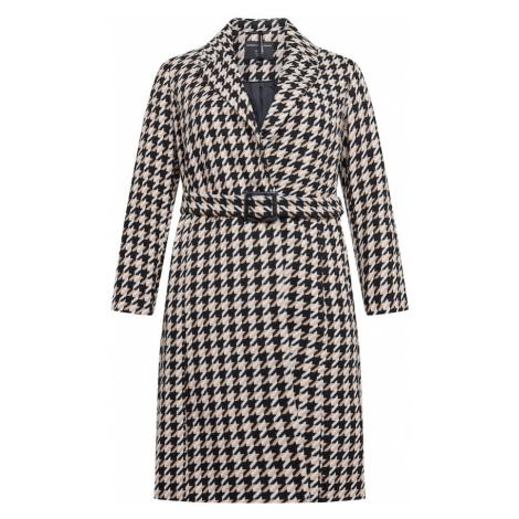 Dorothy Perkins Curve Prechodný kabát  čierna / biela / béžová