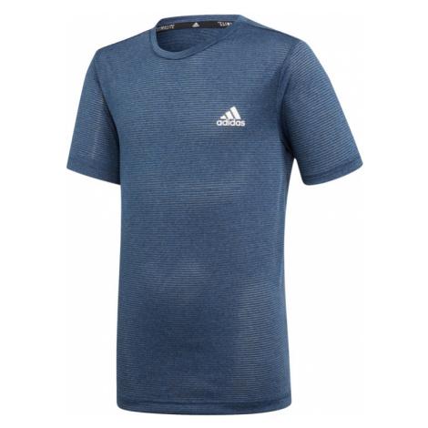 Chlapčenské tričko adidas Training TXTRD tmavomodré