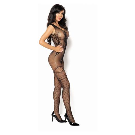 Čierne bodystockings Oriana Beauty Night Fashion
