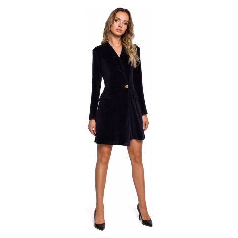Made Of Emotion Woman's Dress M562 Navy Blue