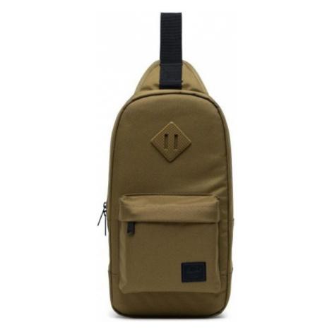 Moderná khaki taška cez plece HERSCHEL 600D POLY