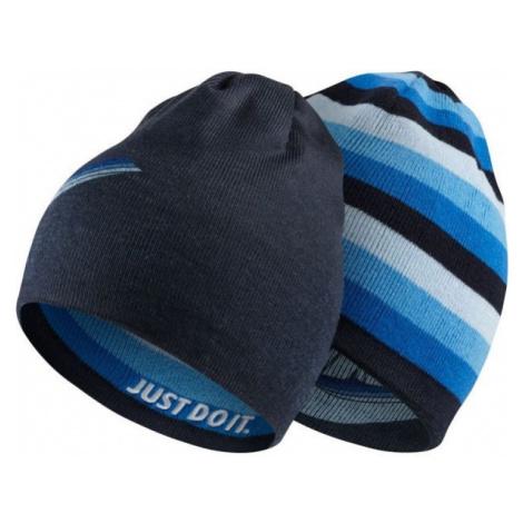 Nike BEANIE REVERSIBLE modrá - Detská obojstranná čiapka