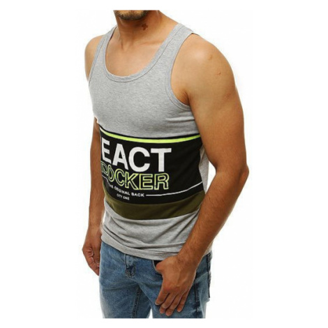 Men's tank top with a gray RX4270 print DStreet