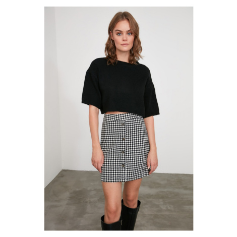 Trendyol Black Button Detailed Skirt