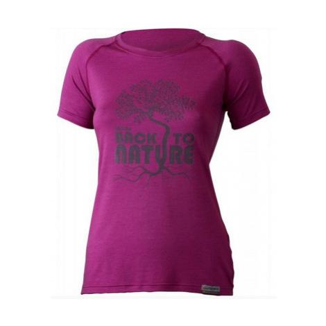 Dámske vlnené triko Lasting Back 4848 ružová