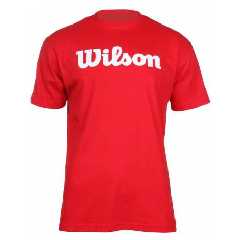 Script Cotton Tee pánské triko barva: červená;velikost oblečení: L Wilson