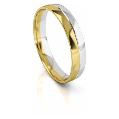 Art Diamond Pánsky bicolor snubný prsteň zo zlata AUG318 mm