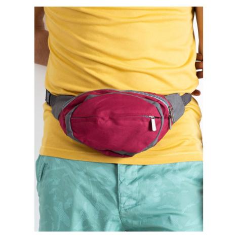 Men´s burgundy kidney bag