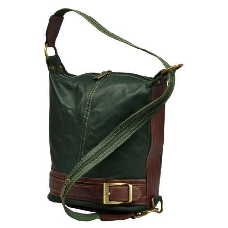 kožená kabelka cez rameno dámska Adele Verde Scura