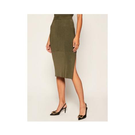 Sportmax Code Puzdrová sukňa Geo 73060106 Zelená Slim Fit