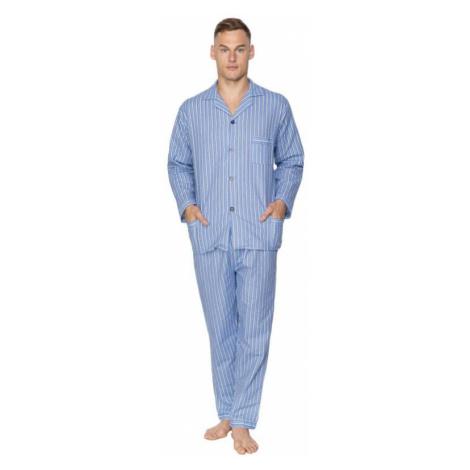 Pánske flanelové pyžamo Arnold modré Kuba