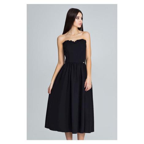 Čierne šaty M602 Figl