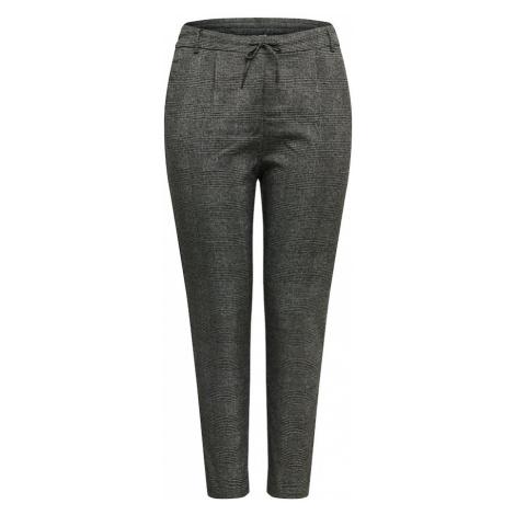 ONLY Carmakoma Plisované nohavice  čierna / biela