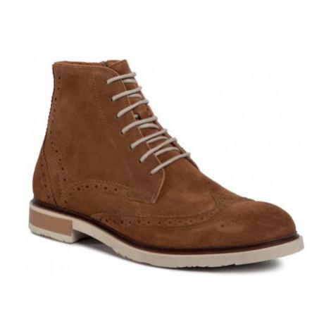 Šnurovacia obuv Gino Rossi MI07-A966-A795-04 Prírodná koža(useň) - Zamš