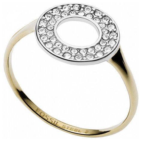 Fossil Pozlátený prsteň z trblietavým kruhom JF03284998 mm