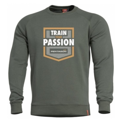 Mikina PENTAGON® Hawk Train Your Passion zelená