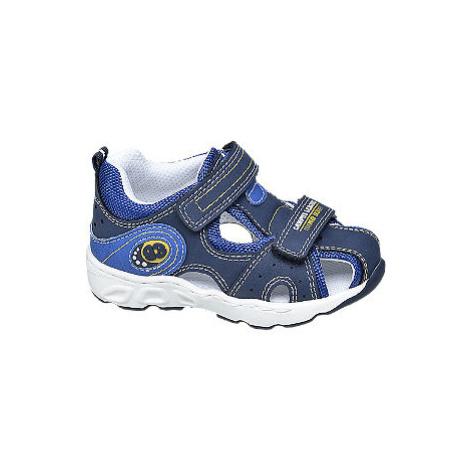 Modré detské sandále na suchý zips Bobbi Shoes Bobbi-Shoes