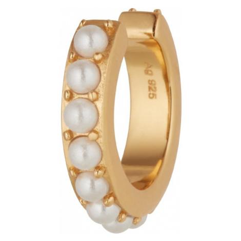 OHH LUILU Náušnice 'Aria'  perlovo biela / zlatá