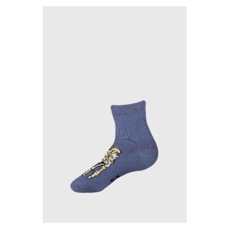 Chlapčenské ponožky Skeleton modrá Wola