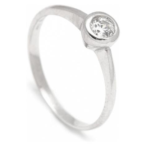 Zlatý zásnubný prsteň DAHLIA white