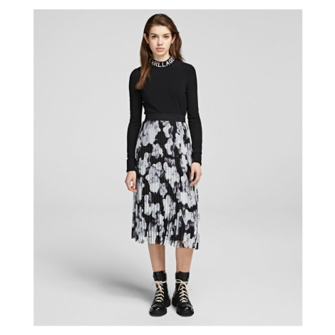 Sukňa Karl Lagerfeld Orchid Print Pleated Skirt