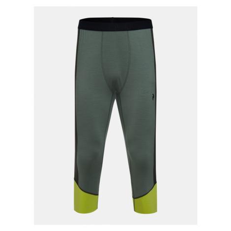Zelené pánske termo nohavice