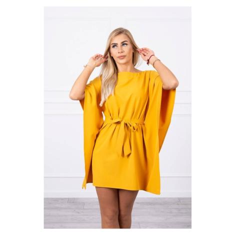 Dress batwings Oversize mustard