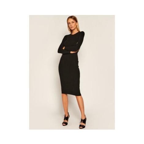 Elisabetta Franchi Úpletové šaty AM-32M-06E2-V369 Čierna Slim Fit