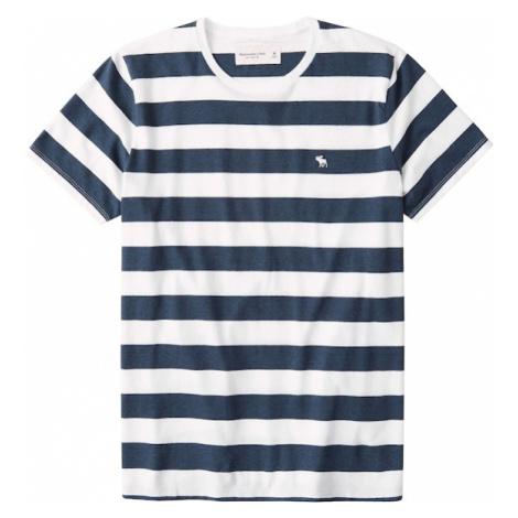 Abercrombie & Fitch Tričko  námornícka modrá / šedobiela