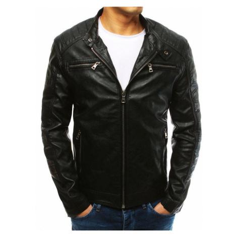 Pohodlná pánska čierna kožená bunda vtx2628