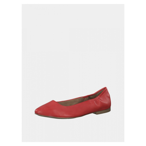 Red leather ballerinas s.Oliver