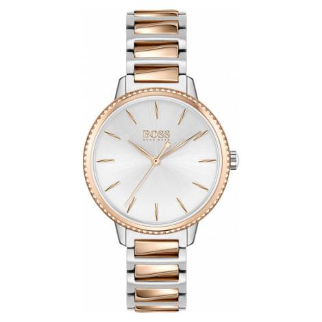 BOSS Analógové hodinky 'SIGNATURE'  ružové zlato / strieborná / biela Hugo Boss