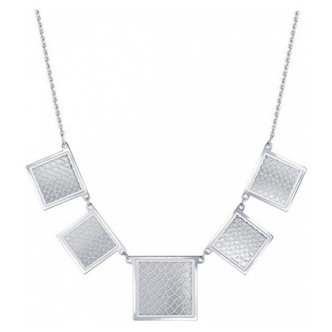Praqia Módne strieborný náhrdelník Štvorce N6261