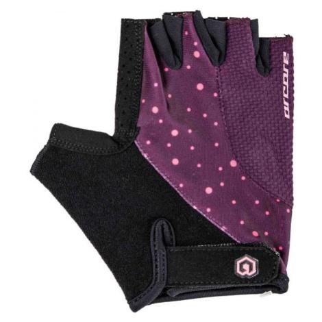 Arcore RIFF fialová - Krátkoprsté cyklistické rukavice