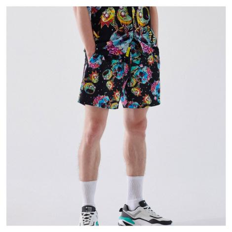 Cropp - Plavkové šortky Rick and Morty - Čierna