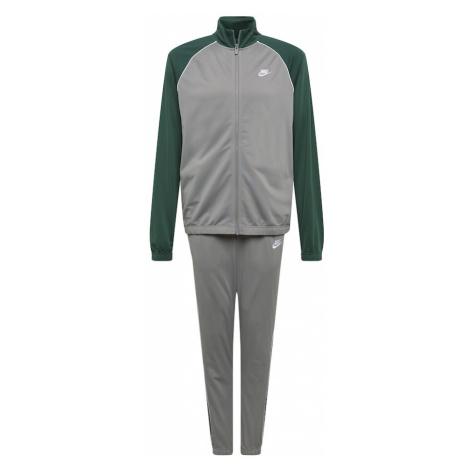 Nike Sportswear Joggingová súprava  tmavozelená / biela / sivá