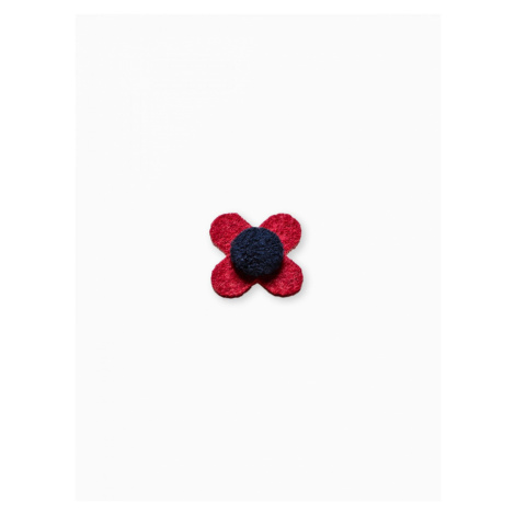 Ombre Clothing Men's lapel pin flower A244 Red