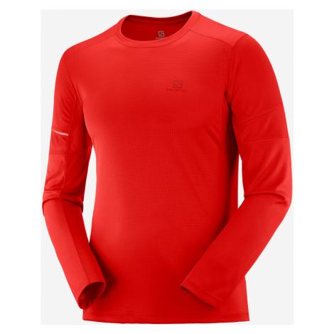 Pánske tričko Salomon Agile LS Tee červené