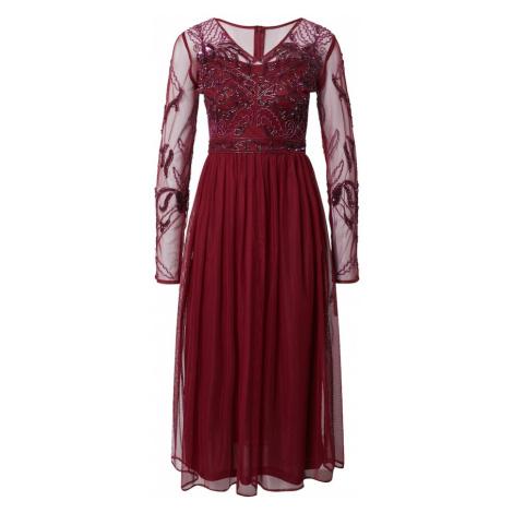 Frock and Frill Kokteilové šaty  burgundská