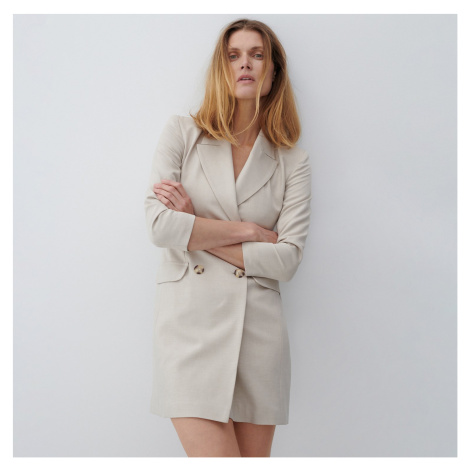 Reserved - Šaty vo forme saka - Béžová