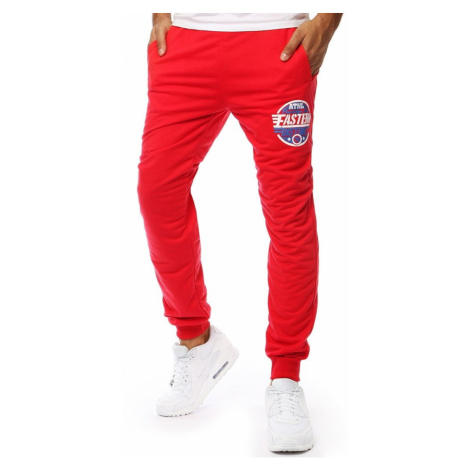Red men's joggers joggers UX2058 DStreet