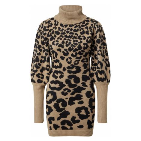 AX Paris Šaty  čierna / svetlobéžová