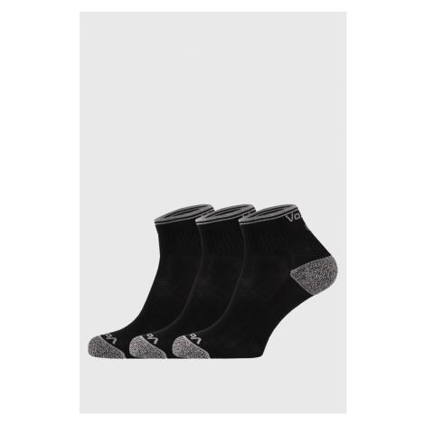 3 PACK športových ponožiek Ray čierne ČIERNA VoXX
