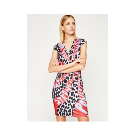 Just Cavalli Koktejlové šaty S02CT1031 Farebná Slim Fit