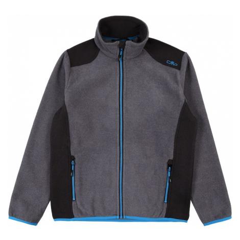 CMP Funkčná flisová bunda  sivá / nebesky modrá / antracitová
