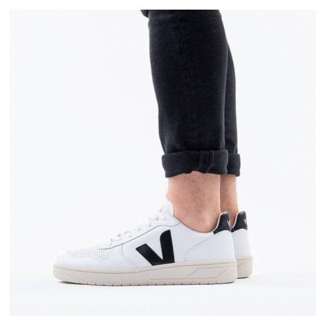 Veja V-10 Leather Extra White Black VXM020005