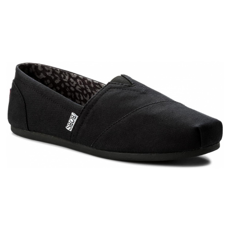 Poltopánky SKECHERS - BOBS Peace & Love 33645/BLK Black