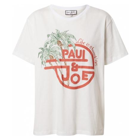 PAUL & JOE Tričko 'TAMBOURIN'  biela / pastelovo červená / zelená